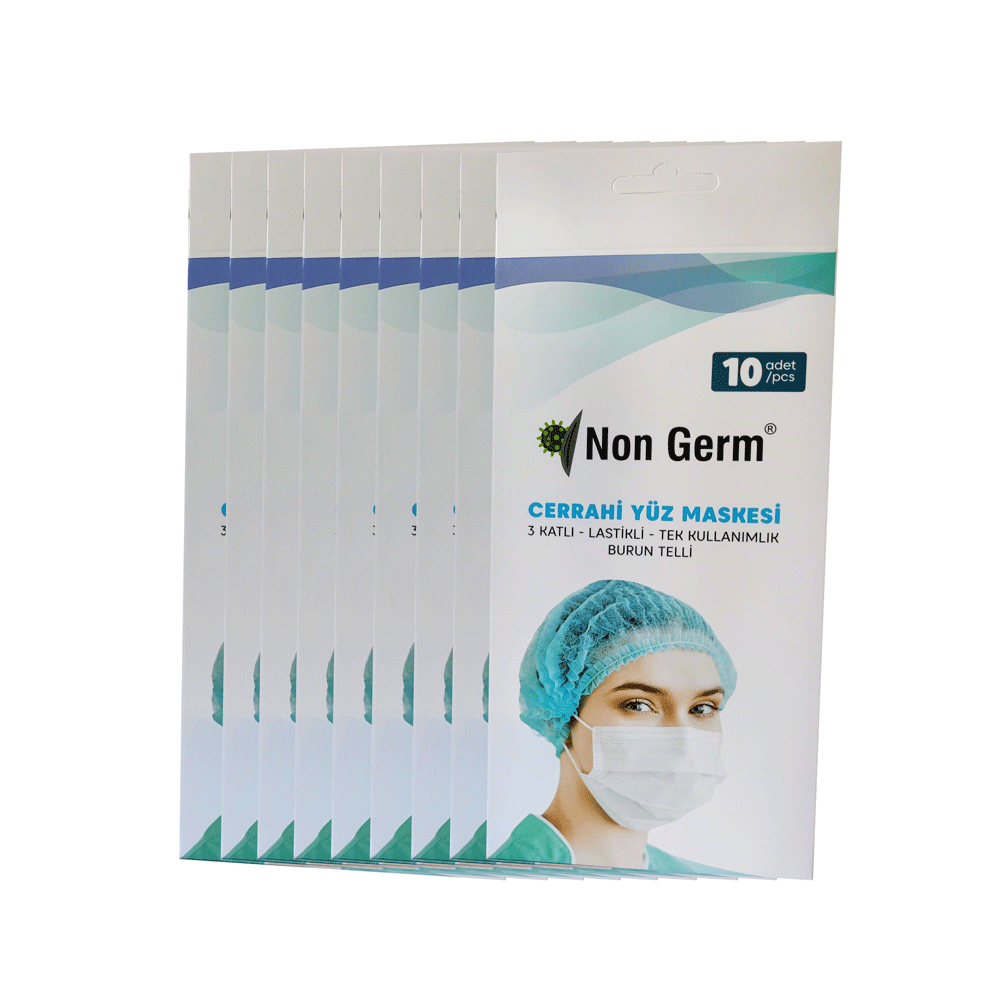 Disposable 3-Ply Mask Pack of 10